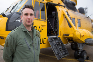 Filming 'Helicopter Rescue'  following Prince William at RAF Valley 2012/13